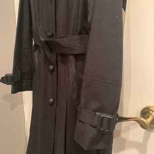 Mackage Jackets & Coats - Mackage Trench Coat with Leather Trim